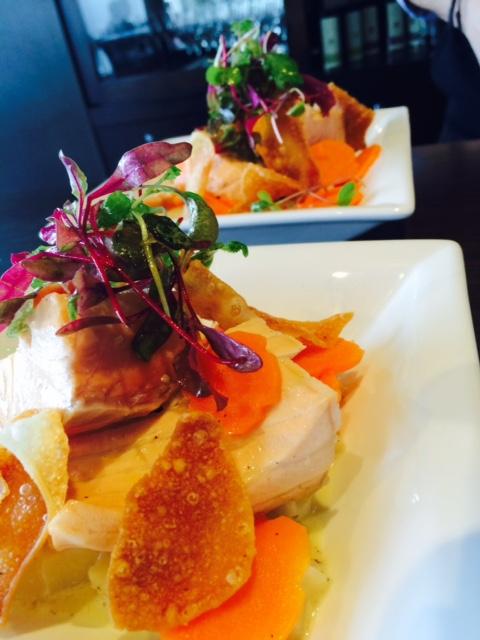 saumon aïoli et carotte biologique